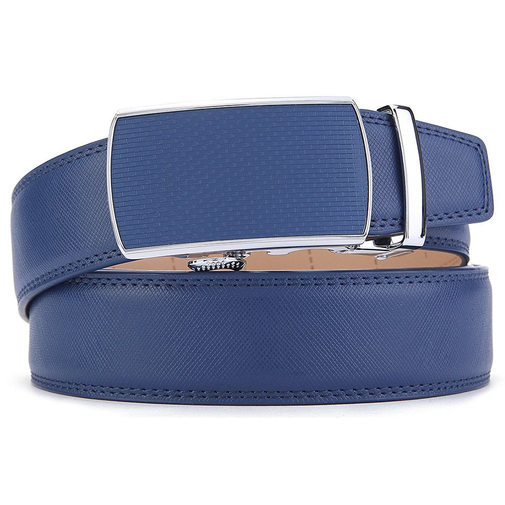 Men/'s Belt,Slide Ratchet Belt for Men with Genuine Leather 1 3//8,Trim to Fit