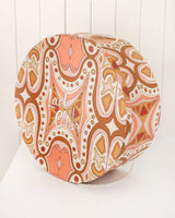 Hat Box - Large - Peach Print