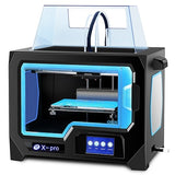 Dual Extruder 3D printer X -pro 4.3 Inch Touch Screen Wifi/Lan Connection 200*150*150mm ABS and PLA TPU - Trendystreetwear