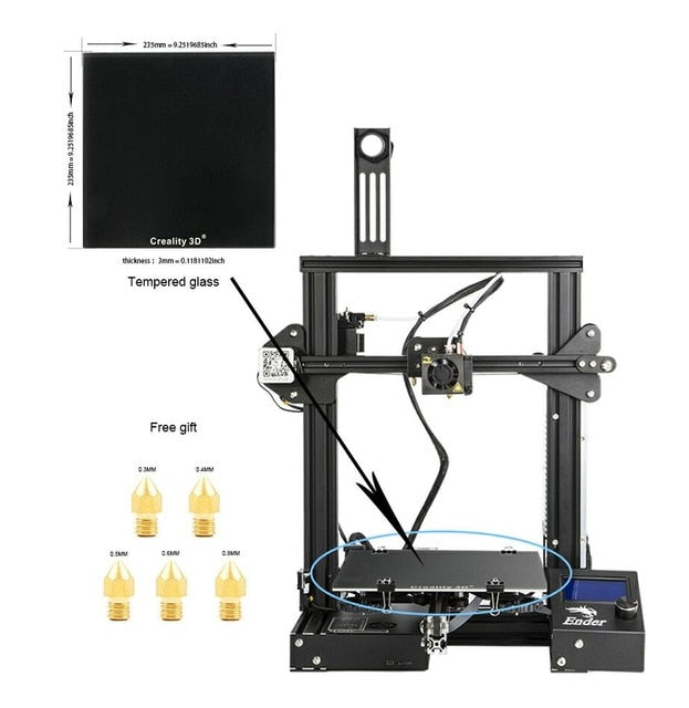Ender-3X 3D Printer 3D Creality Continuation Print Power - Trendystreetwear