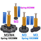 M3/M4 Screws Nuts Heat Bed Leveling Spring Knob Parts 3D Printers Print Platform Screw Calibration Accessories (4 PACK) - Trendystreetwear