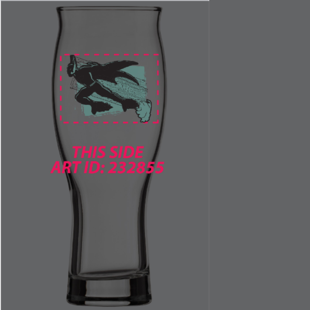 "16oz Glow in the Dark ""Beyond Hops"" Glass (Membership)"