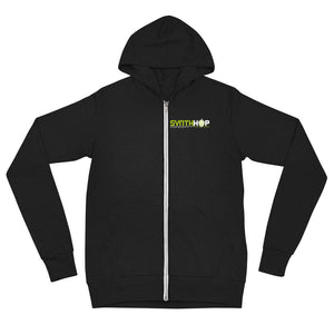 Synth Hop Triblend Lightweight Zip Hoodie