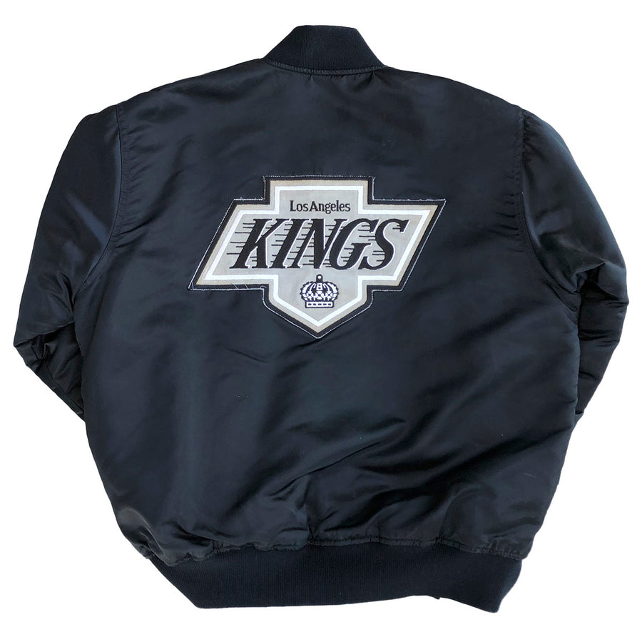 Vintage Original 80s LA Kings Satin Starter NHL Hockey Jacket Sweater 90s Los Angeles M/L