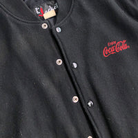 Vintage 90s Coca-Cola Leather Sleeve Wool Varsity Jacket XL