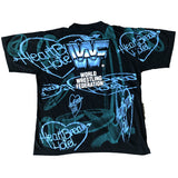 Vintage 1995 All Over Print Shawn Michaels Heartbreak Hotel Tee L/XL