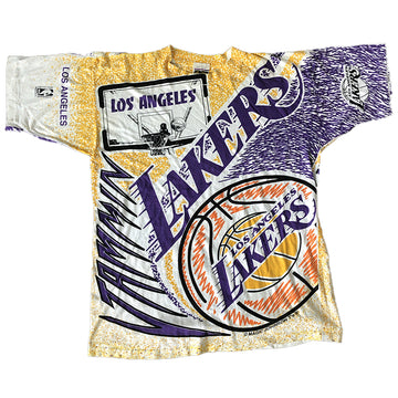 Vintage NBA Magic Johnson Los Angeles Lakers Tee Large