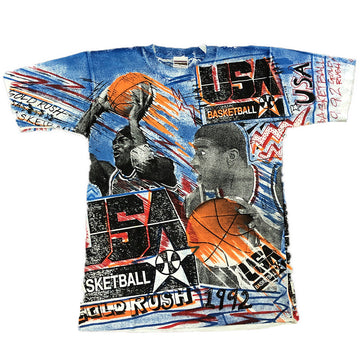 Vintage Magic Johnson 1992 USA Dream Team Tee Large