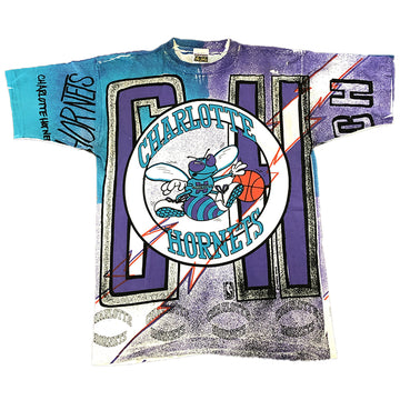 Vintage Magic Johnson Charlotte Hornets Tee L