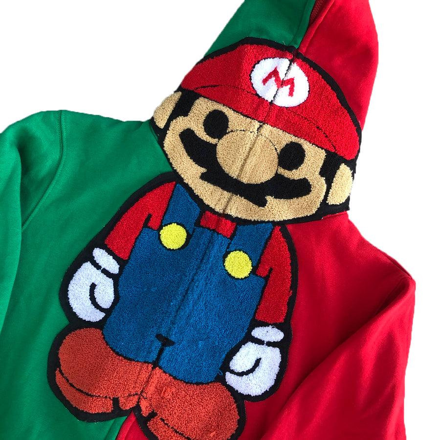 Custom Baby Milo x Super Mario Kart Zip Up Hoodie XL