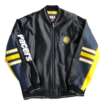 Vintage NBA Indiana Pacers Genuine Leather Jacket XL