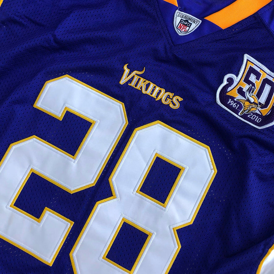 Authentic Reebok On Field NFL Minnesota Vikings Adrian Peterson #28 Jersey L