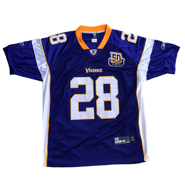 Reebok On Field NFL Minnesota Vikings Adrian Peterson Jersey L