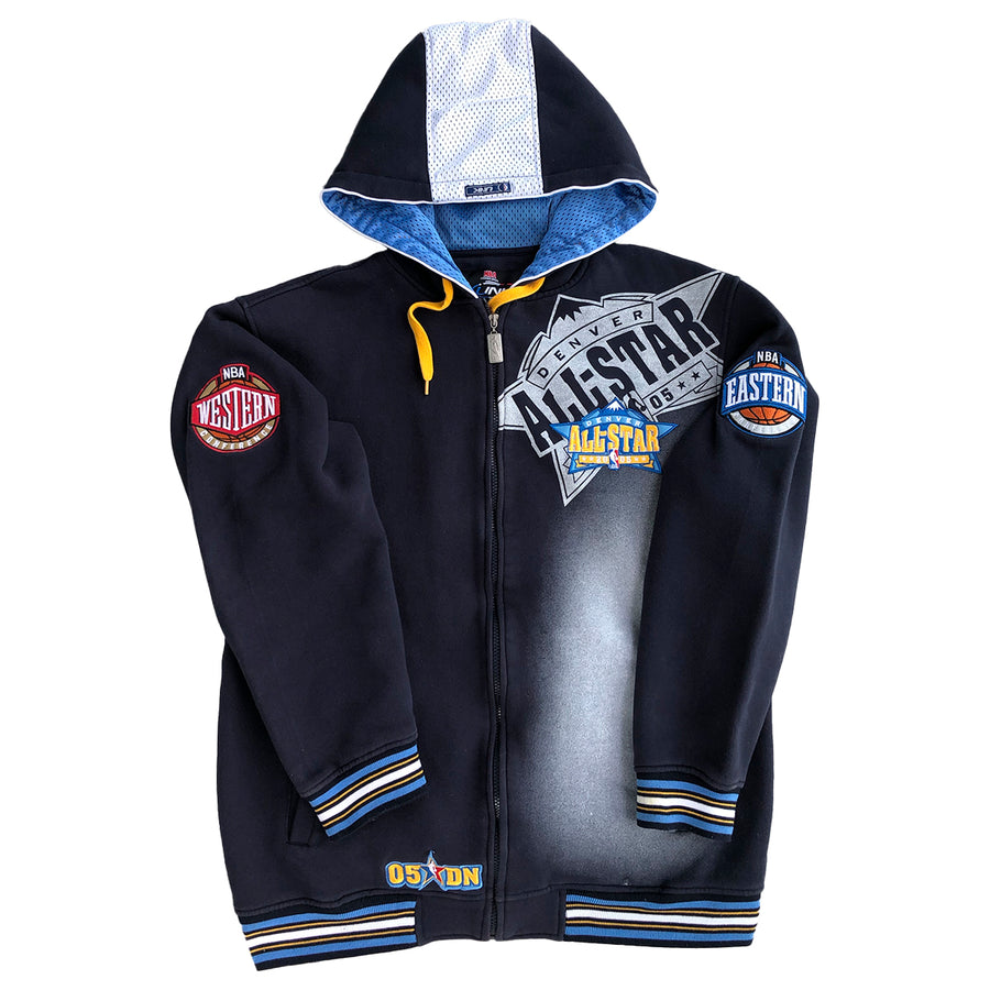 Rare NBA UNK 2005 Denver Nuggets All-Star Game Zip Up Hoodie L