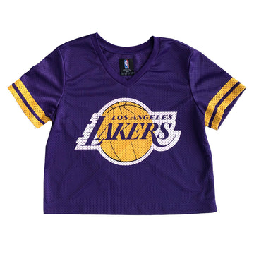 Womens NBA Los Angeles Lakers Crop Top Jersey S