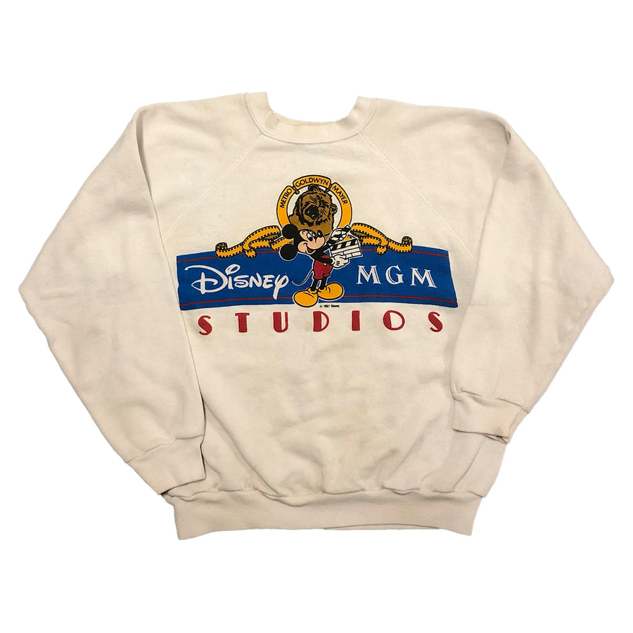 Vintage 1987 Disney MGM Studios Mickey Mouse Cartoon Crewneck Sweater XS/S