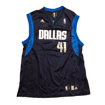 Adidas NBA Dirk Nowitzki Dallas Mavericks #41 Jersey L