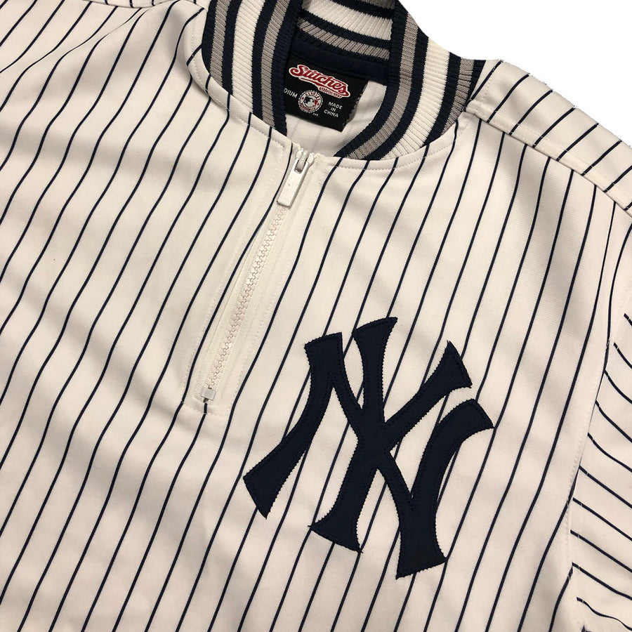 MLB Stitches New York Yankees Half Zip Pullover Tee M/L