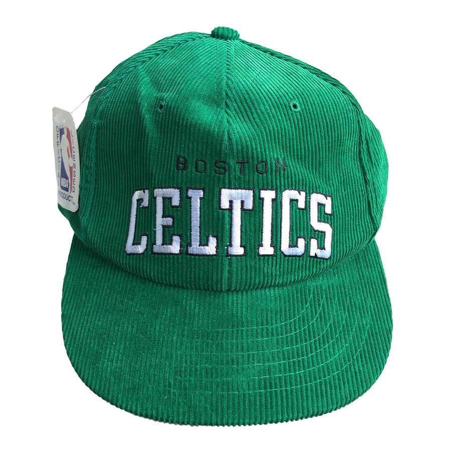 Vintage NBA Corduroy Boston Celtics Snapback NWT