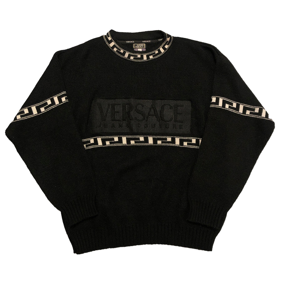 Vintage Versace Jeans Couture Spellout Sweater XL