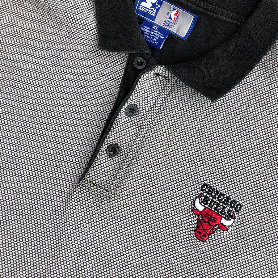 Vintage NBA Starter Chicago Bulls Polo Tee XL