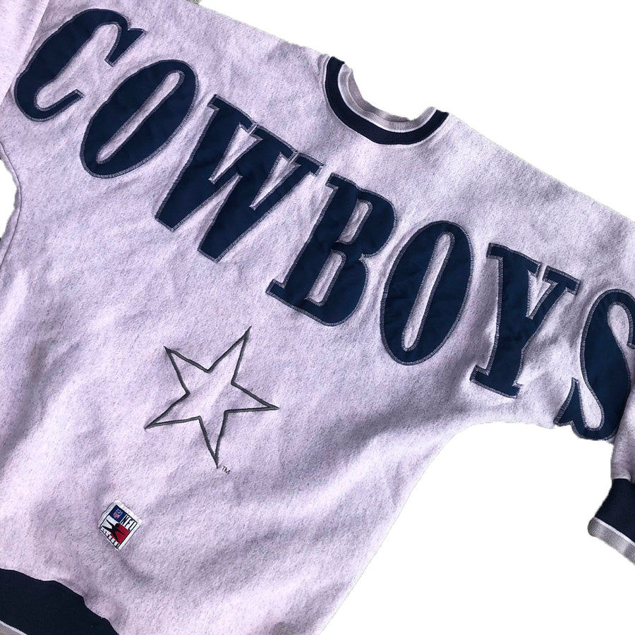 Vintage NFL Dallas Cowboys Spellout Crewneck Sweater M