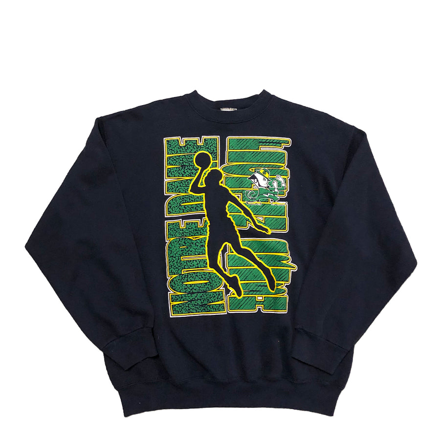 Vintage Notre Dame Basketball Crewneck Sweater L/XL