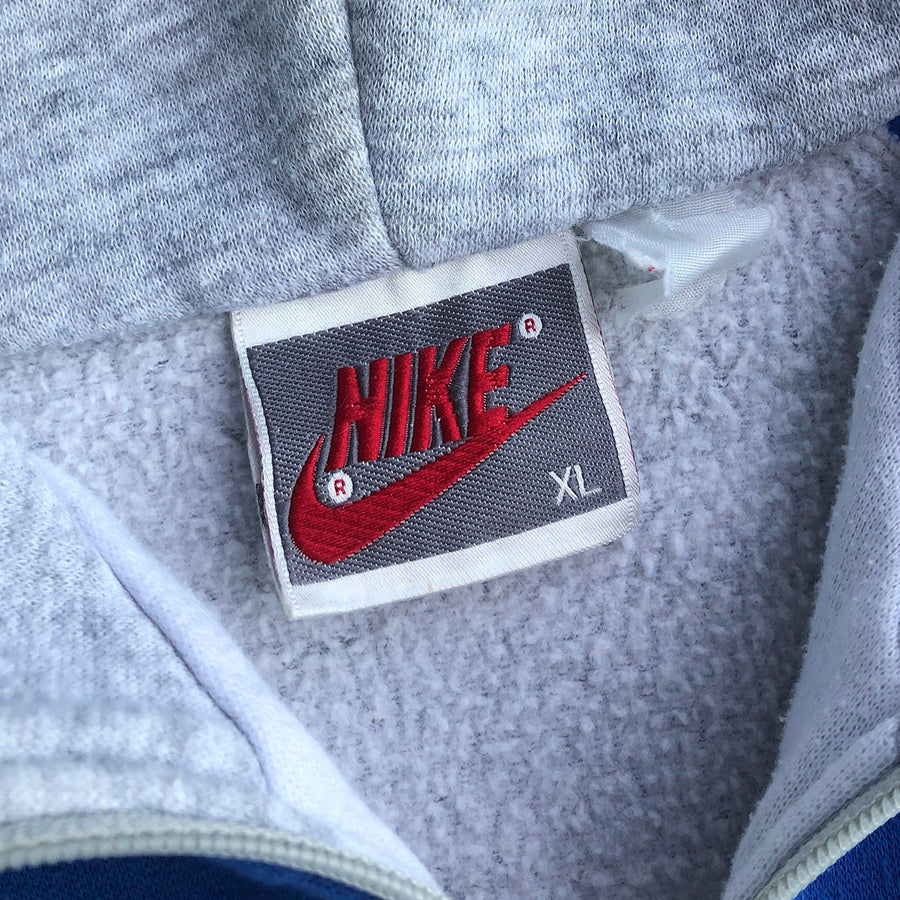 Vintage Grey Tags Nike Zip Up Hoodie XL