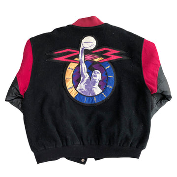 Vintage Air Jordan Letterman Wool and Leather Jacket L