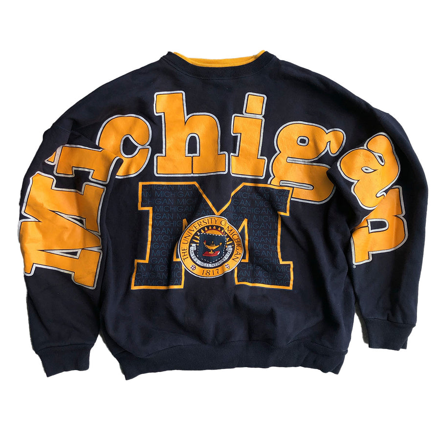 Vintage Michigan State Spellout Crewneck Sweater L