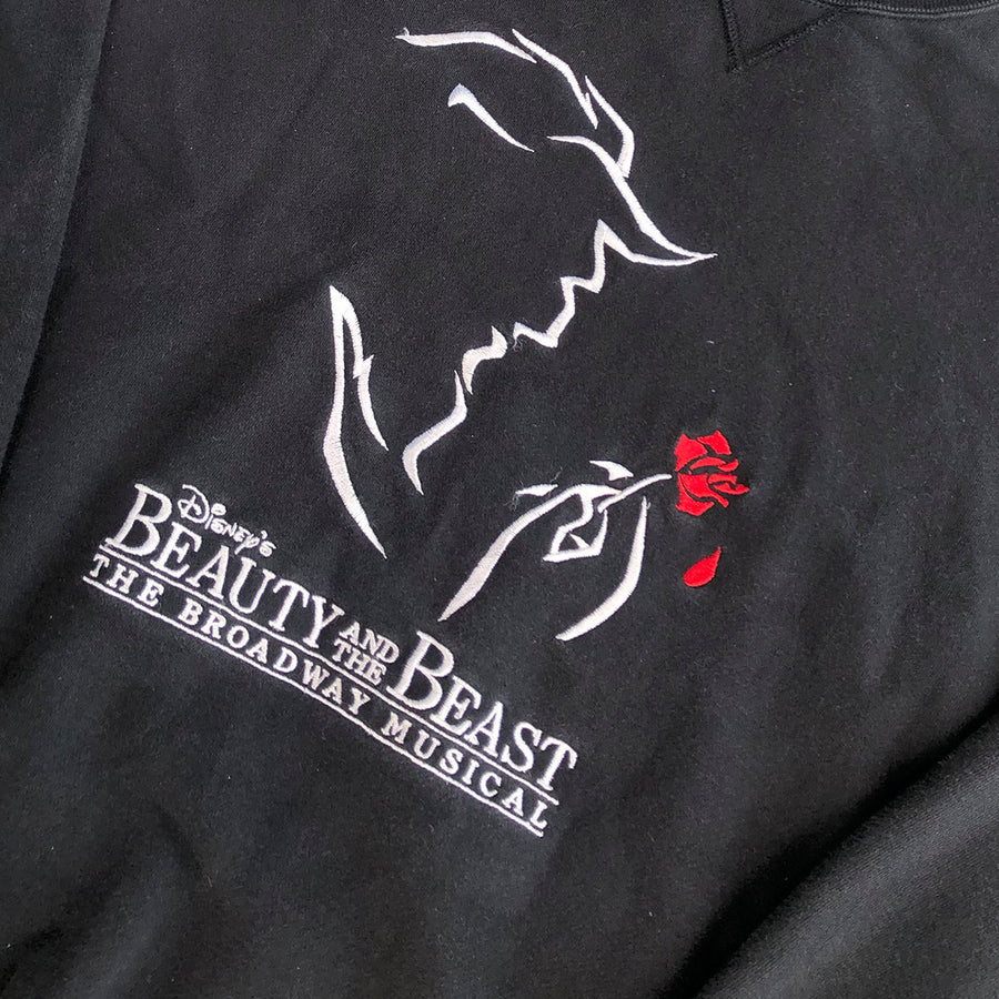 Vintage Beauty And The Beast The Broadway Musical Crewneck Sweater L