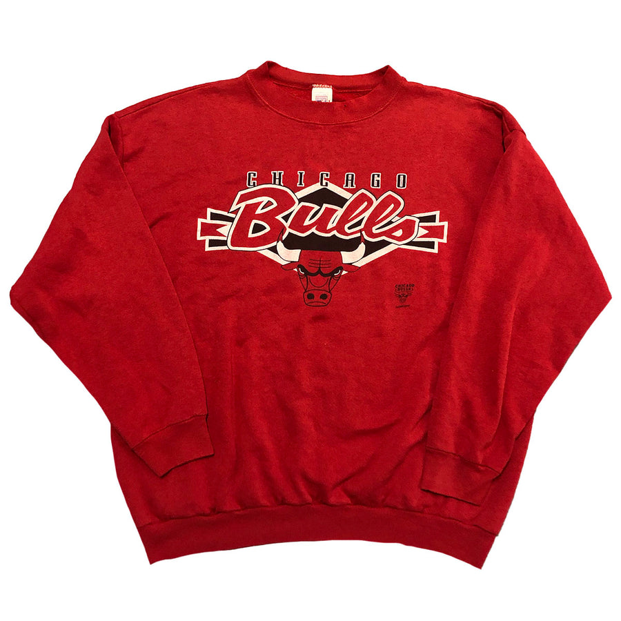 Vintage Logo 7 NBA Chicago Bulls Crewneck Sweater L/XL