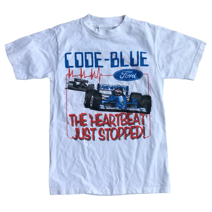 Vintage Code Blue Ford Racing Tee S