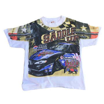 Vintage 90s Nascar Racing All Over Print Tee M