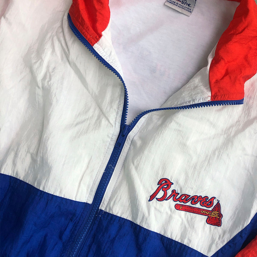 Vintage MLB Atlanta Braves Windbreaker Jacket XL