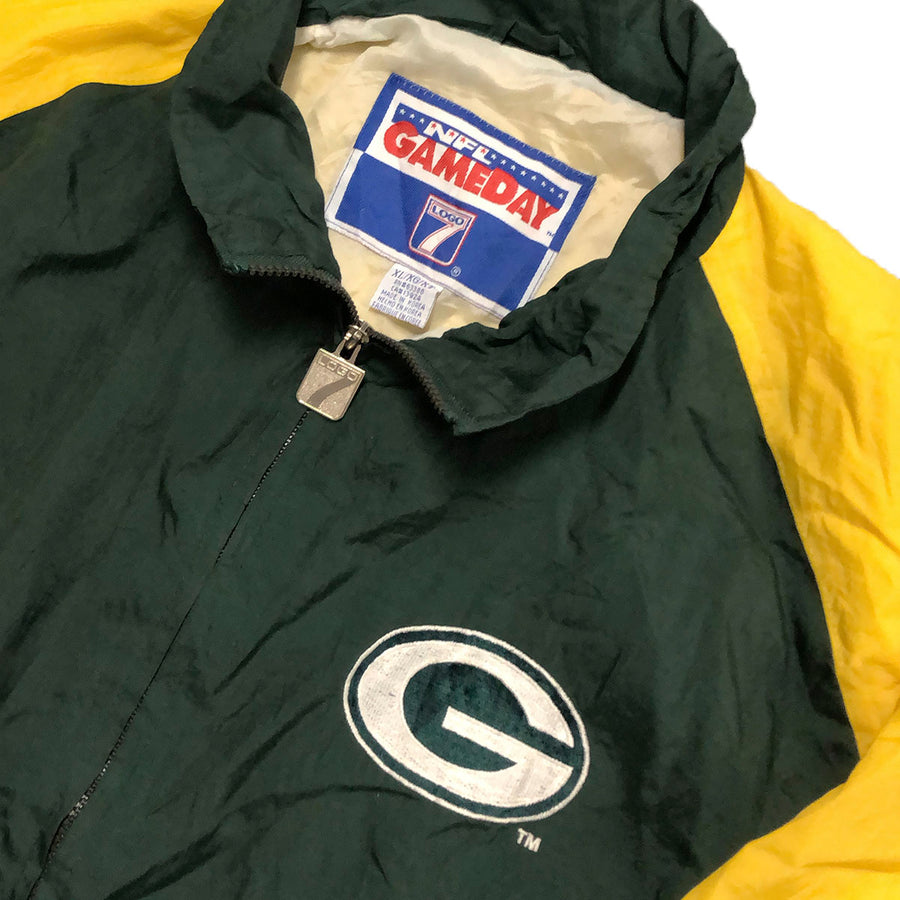 Vintage Logo 7 NFL Green Bay Packers Windbreaker Jacket XL