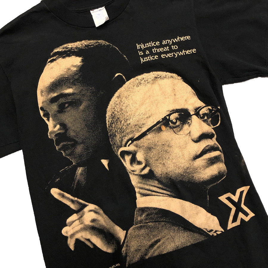 Vintage Martin Luther King x Malcolm X Tee M