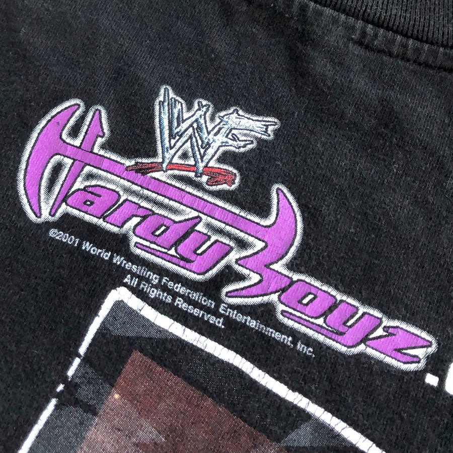Vintage 2001 WWF Hardy Boyz Live For The Moment Tee L