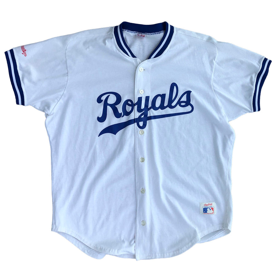 Vintage MLB 80s Rawlings KC Royals Jersey XL