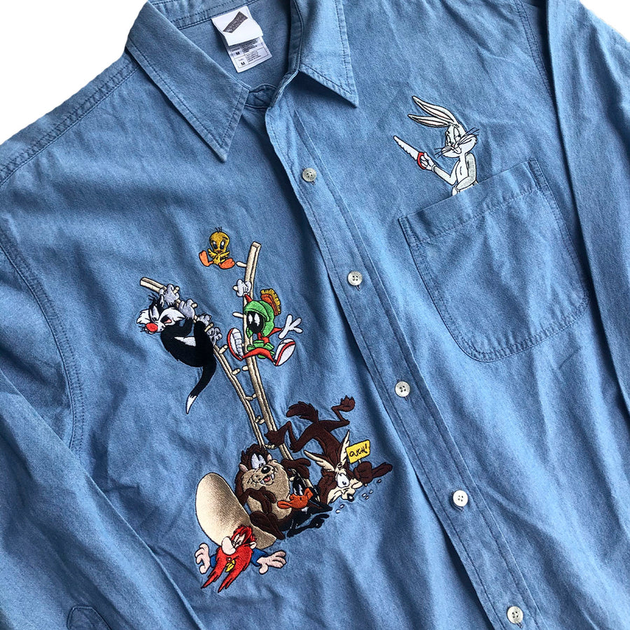 Vintage Looney Tunes Button Up M