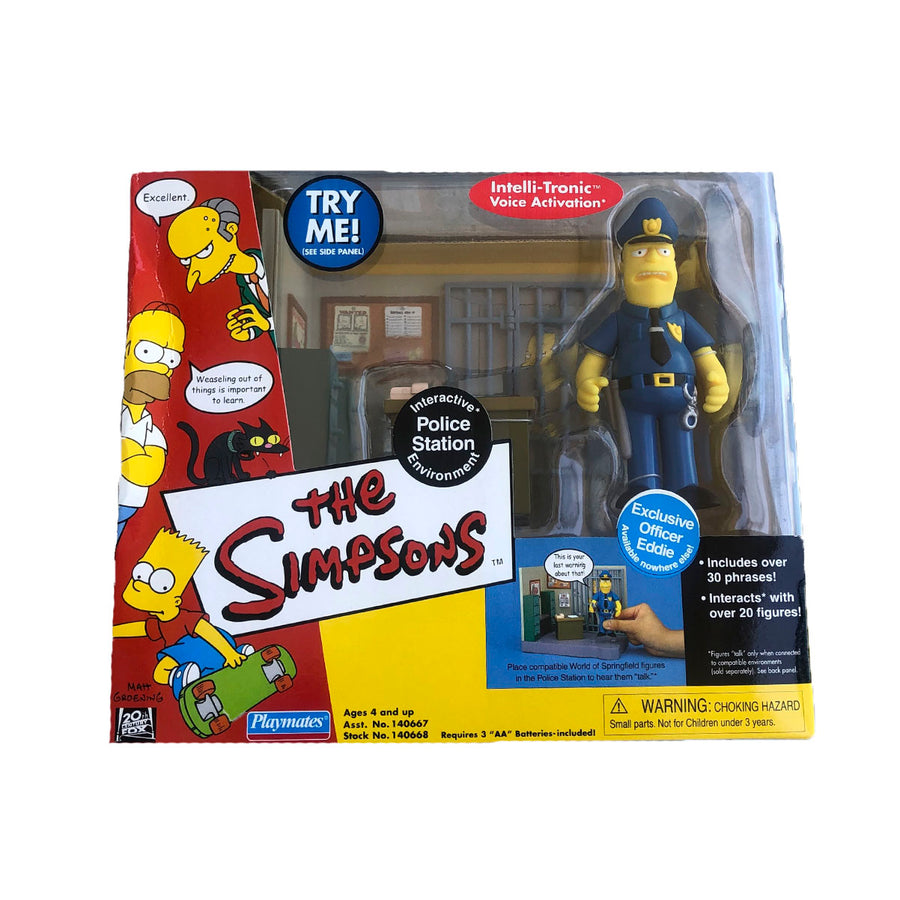 The Simpsons Police Station Playmates Action Figure