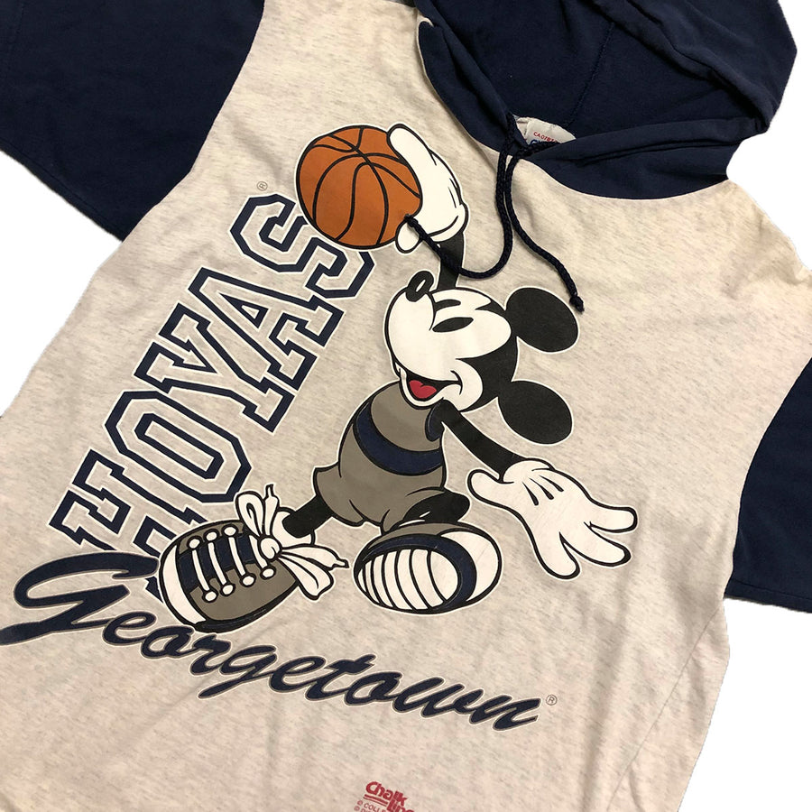 Vintage Disney Mickey Mouse Georgetown Hoyas Pullover Sweatshirt L/XL
