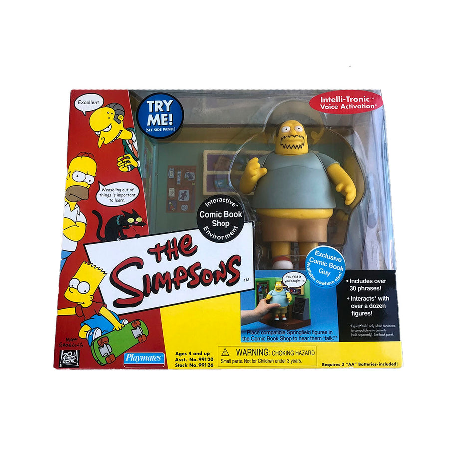 The Simpsons Comic Book Shop Playmates Action Figure