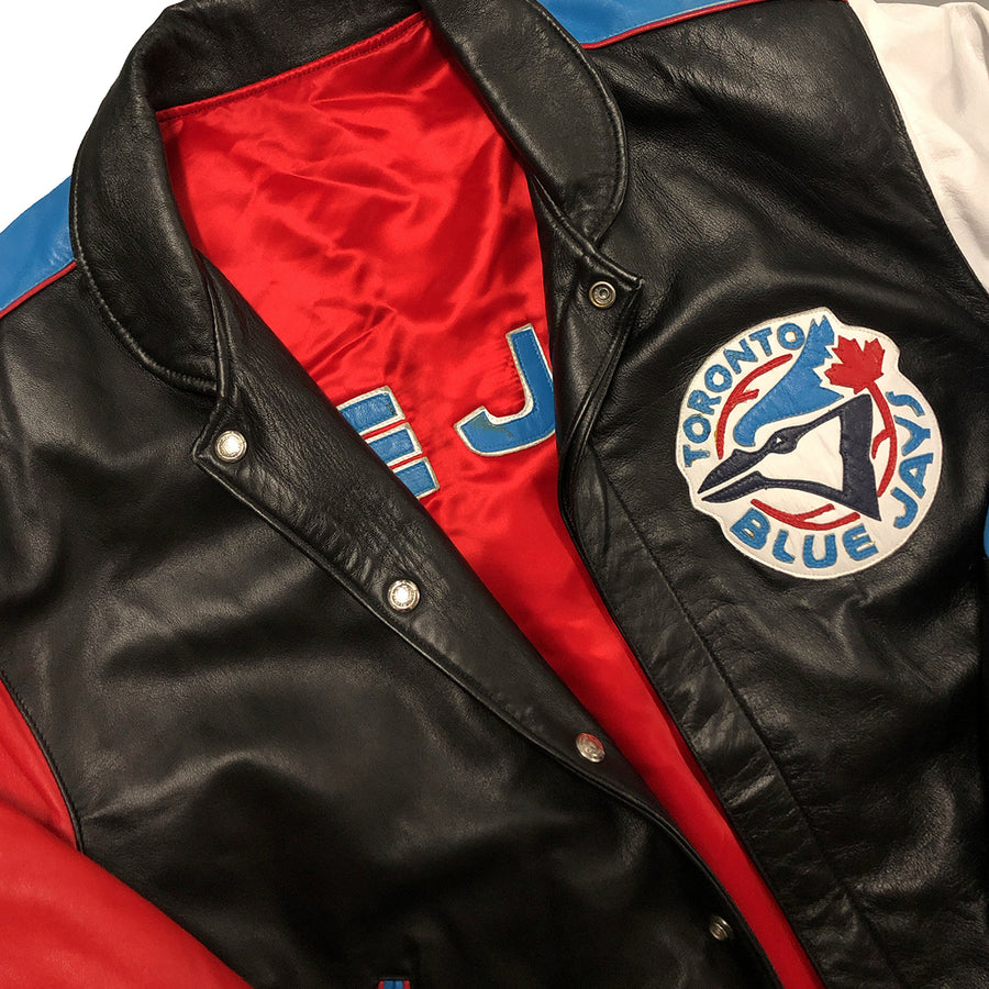 Vintage Jeff Hamilton MLB Toronto Blue Jays Leather Jacket M