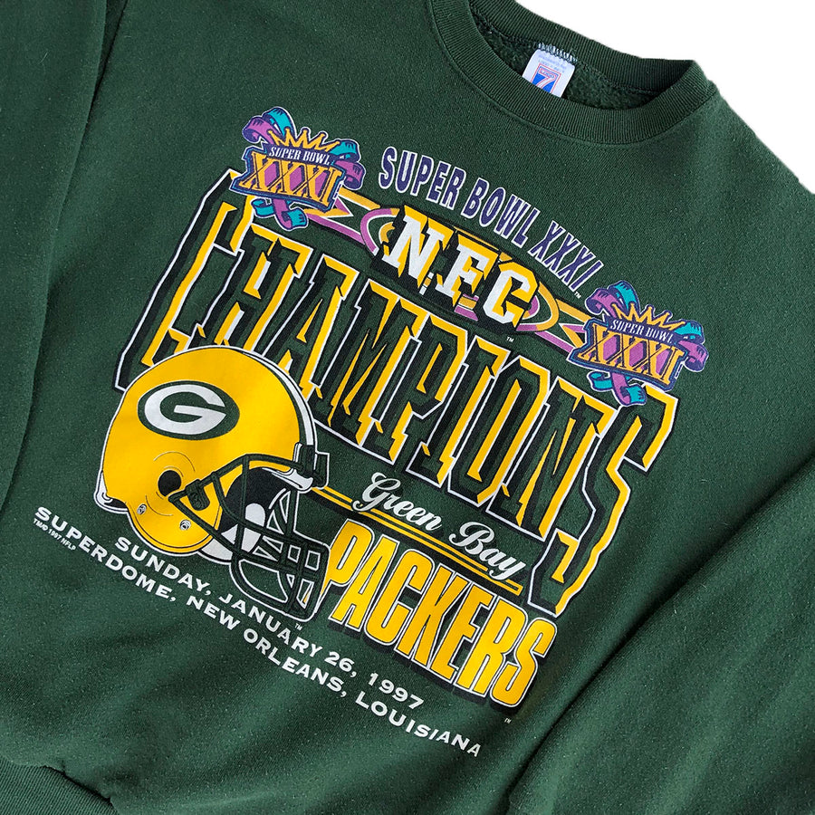 Vintage 1997 NFL Superbowl Greenbay Packers Crewneck Sweater L