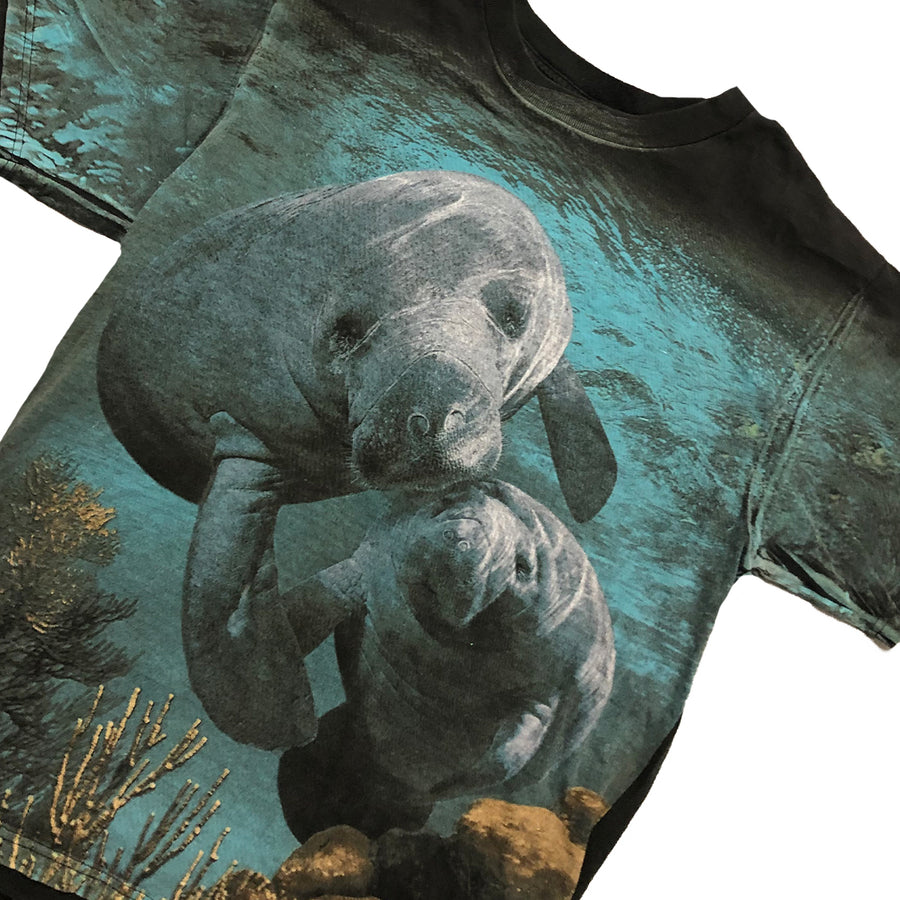 Vintage Nature Sea Lion All Over Print Tee L