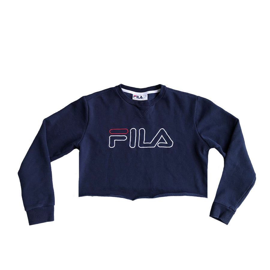 Womens Fila Crop Top Crewneck Sweater S