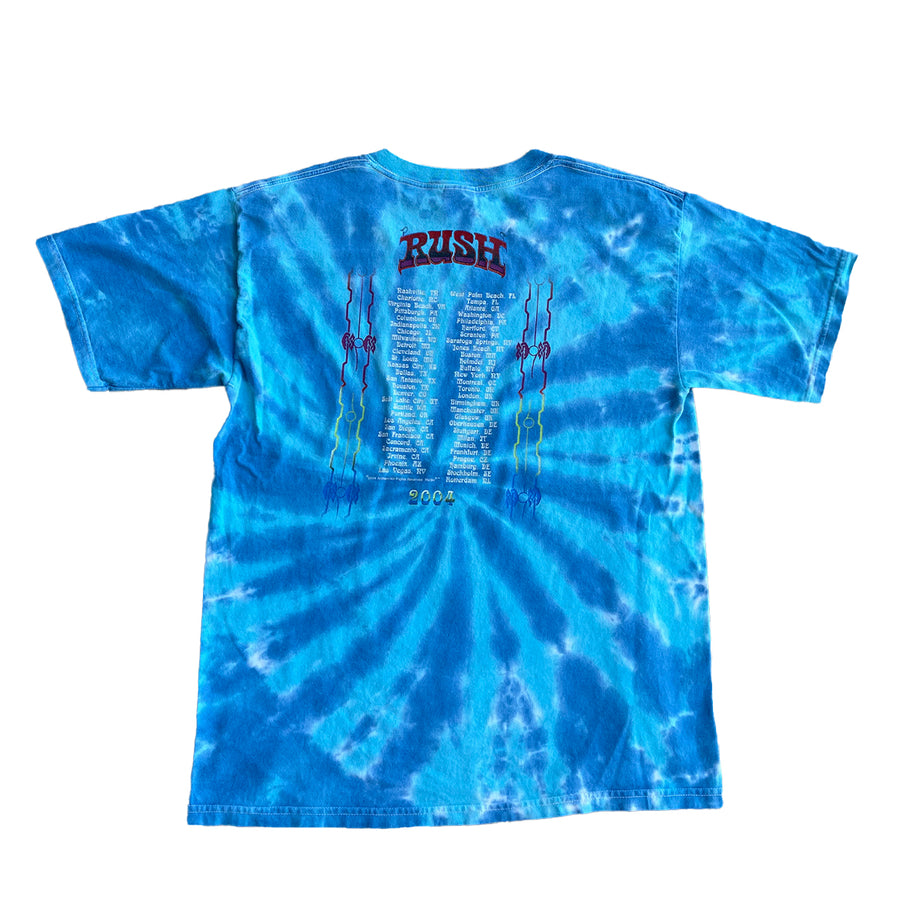 2004 Rush Feedback Tour Tie Dye Tee L