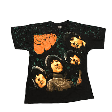 Vintage 90s The Beatles Rubber Soul All Over Print Tee XL