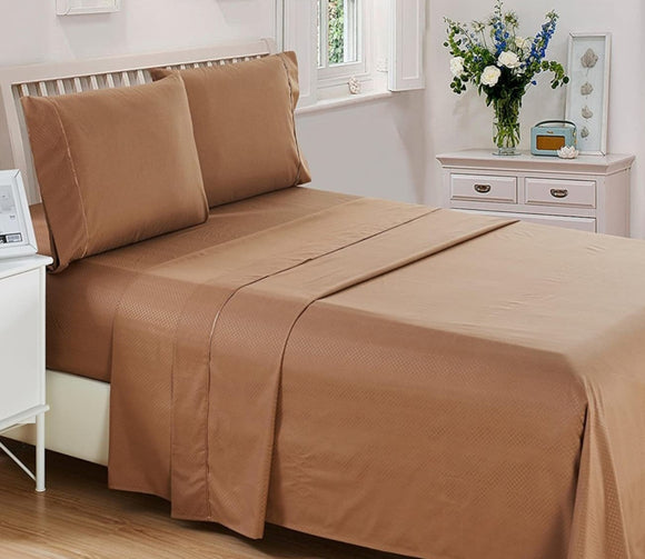 Collection Bed Sheet Set - Microfiber 1800 Bedding - Wrinkle Stain and Fade Resistant - Hypoallergenic - Deep Pocket Pattern-6 Piece